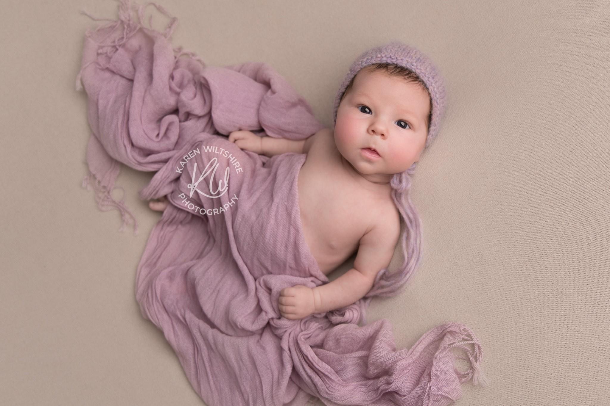 wide awake newborn baby